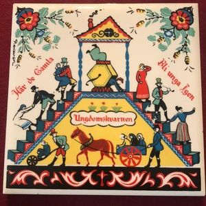 """🇺🇸 Berggren tile """"old are young"""""""